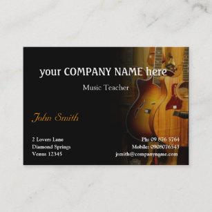 Guitar business cards templates zazzle stylish guitar business card colourmoves