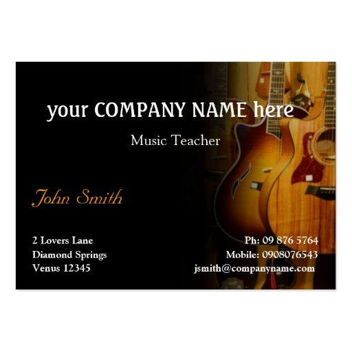 Stylish Guitar Business Card