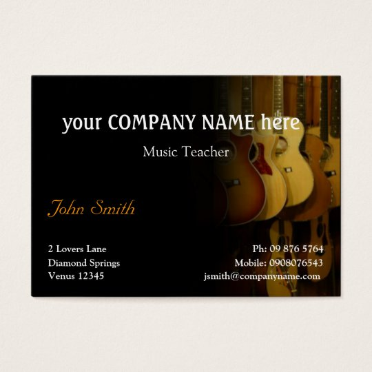Stylish Guitars Business Card