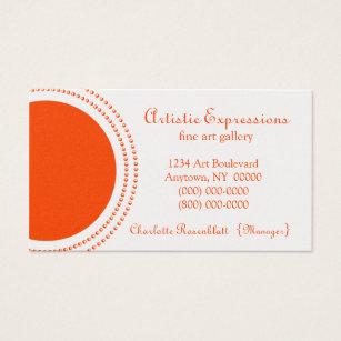 Half circle business cards templates zazzle stylish half circles business card orange business card colourmoves