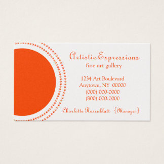 Stylish Half Circles Business Card, Orange Business Card