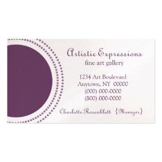 Stylish Half Circles Business Card, Purple