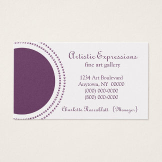 Stylish Half Circles Business Card, Purple Business Card