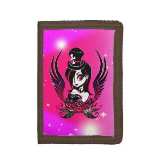 Stylish Hand Drawn Midnight Beauty Trifold Wallet