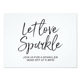 "Stylish Hand Lettered ""Let love sparkle"" Sign Card"