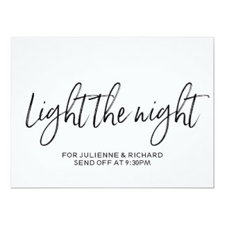 """Stylish Hand Lettered """"Light the Night"""" Sign Card"""