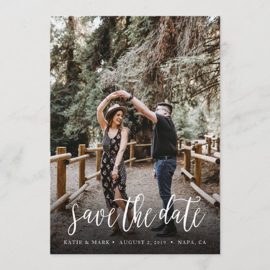 Stylish Handwritten Save the Date Card