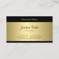 Stylish Handwritten Script Clean Glamour Gold Look Business Card