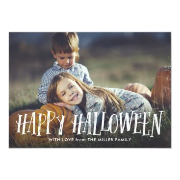 Halloween Themed Stylish Happy Halloween Photo Card