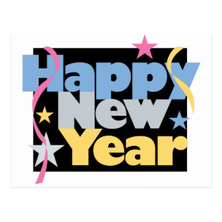 Stylish Happy New Year Postcard