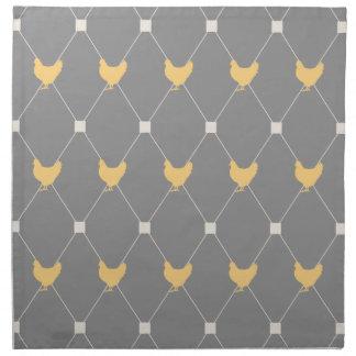 Stylish Harlequin Chicken Pattern Cloth Napkin