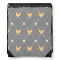 Stylish Harlequin Chicken Pattern Drawstring Bag