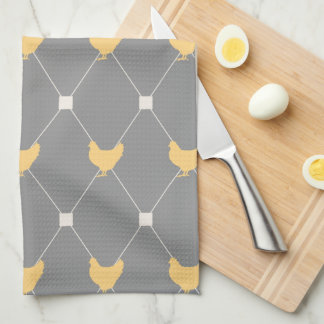 Stylish Harlequin Chicken Pattern Towel