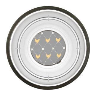 Stylish Harlequin Chicken Pattern Pet Bowl