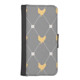 Stylish Harlequin Chicken Pattern Phone Wallet Cases