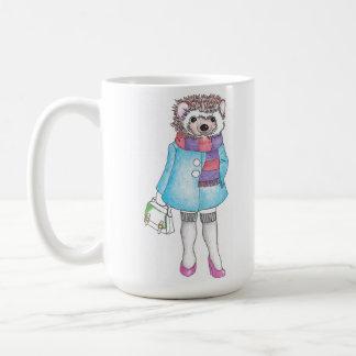 Stylish Hedgie Classic White Coffee Mug
