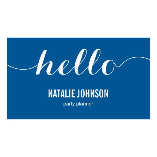Hello business card templates bizcardstudio stylish hello modern business card groupon colourmoves Gallery
