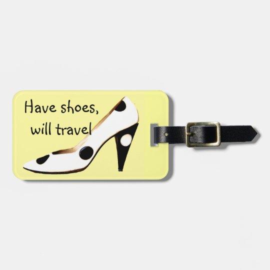 Stylish High Heel Shoe Design Bag Tags