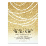 "Stylish Holiday Gold Glitter Sparkles Party Invite 4.5"" X 6.25"" Invitation Card"