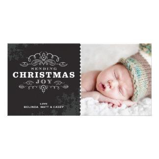 STYLISH HOLIDAY PHOTOCARD :: sending christmas joy Picture Card