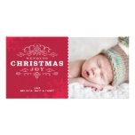 STYLISH HOLIDAY PHOTOCARD :: sending christmas joy Personalized Photo Card