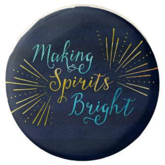 Stylish Holiday Typography Making Spirits Bright Chocolate Dipped Oreo