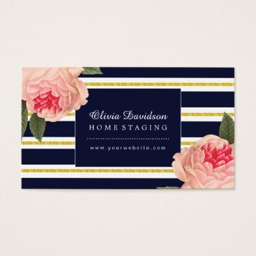 Professional Business Stylish Home Staging Business Cards