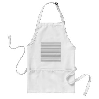 Stylish Horizontal Lines Design in Black and White Adult Apron