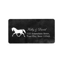 Stylish Horse Wedding Return Address Labels