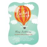 Stylish Hot Air Balloon Custom Baby Shower Invite