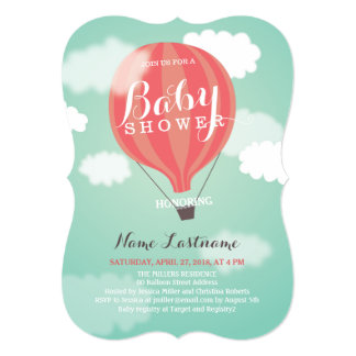 Hot Air Balloon Invitations amp; Announcements  Zazzle