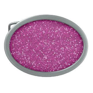 Stylish Hot Pink Glitter Belt Buckle