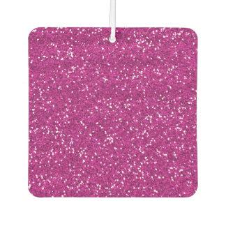 Stylish Hot Pink Glitter Car Air Freshener