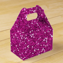 Stylish Hot Pink Glitter Favor Box