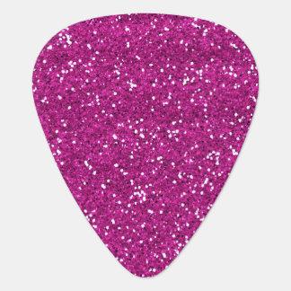 Stylish Hot Pink Glitter Guitar Pick