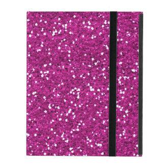 Stylish Hot Pink Glitter iPad Case