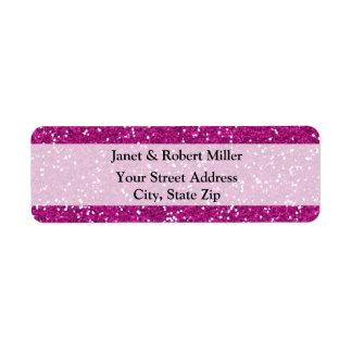 Stylish Hot Pink Glitter Label