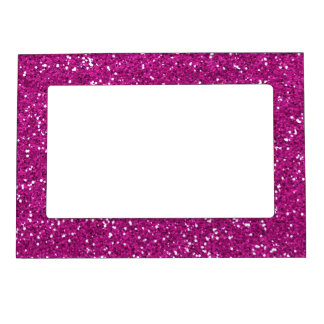 Stylish Hot Pink Glitter Magnetic Photo Frame