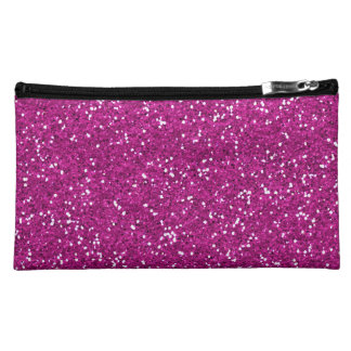 Stylish Hot Pink Glitter Makeup Bag