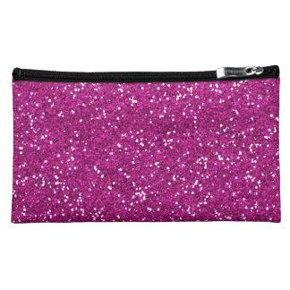 Stylish Hot Pink Glitter Makeup Bag