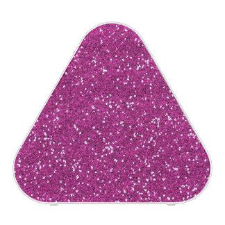 Stylish Hot Pink Glitter Speaker
