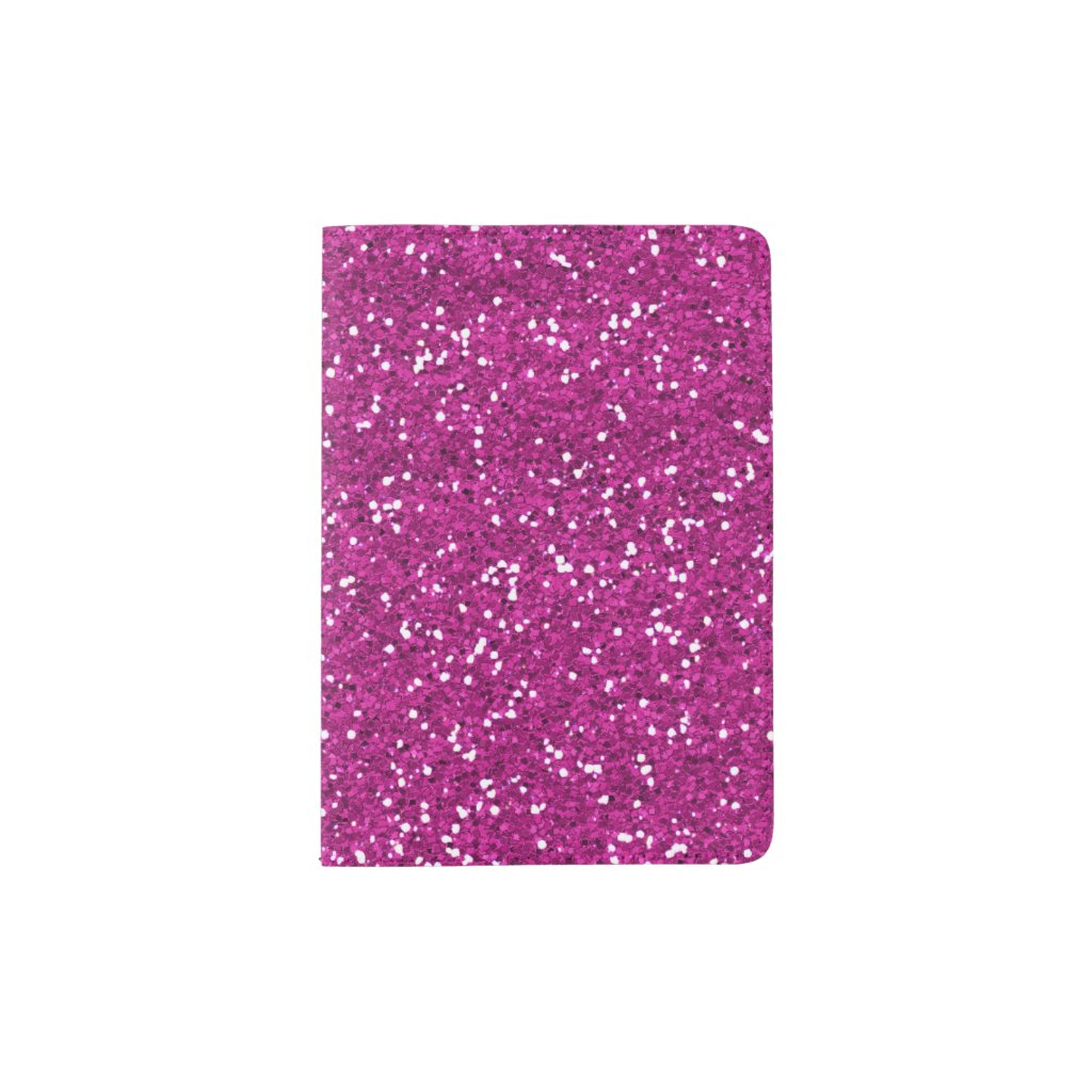 Stylish Hot Pink Glitter Passport Holder