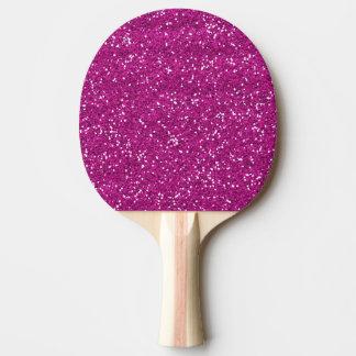 Stylish Hot Pink Glitter Ping Pong Paddle
