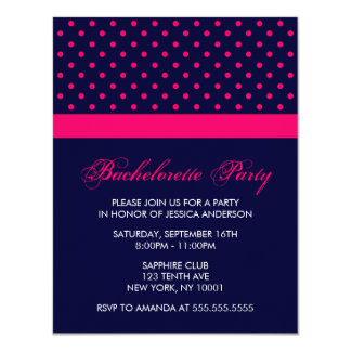 Stylish Hot Pink Polka Dots Pattern Card