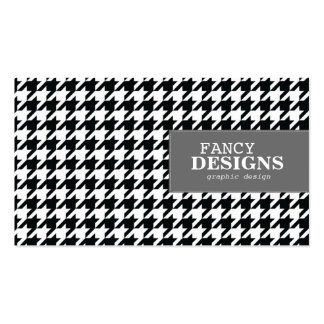 Stylish Houndstooth Business Card Template