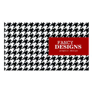 Stylish Houndstooth Business Card Templates