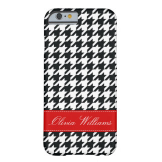 Stylish Houndstooth Barely There iPhone 6 Case