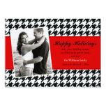 "Stylish Houndstooth Holiday Card 5"" X 7"" Invitation Card"