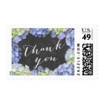 Stylish Hydrangea Flowers Thank You Stamps