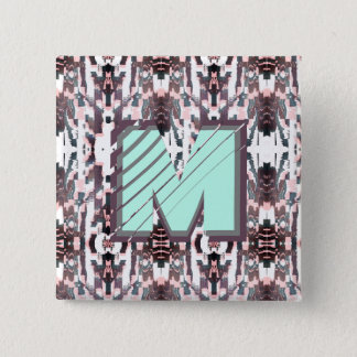 Stylish Ikat Early Fall + Spring Monogram Button